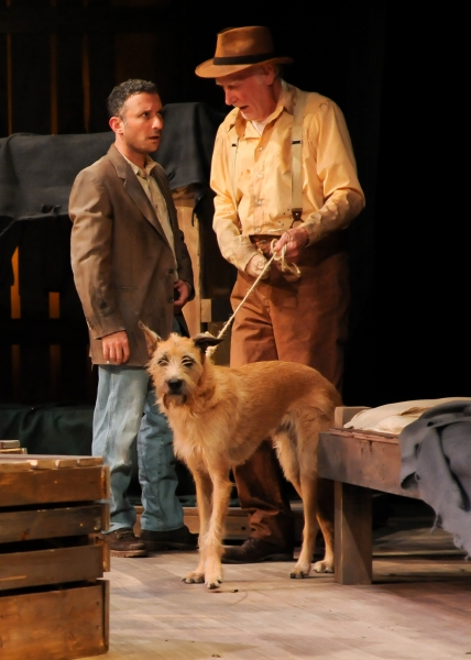 Jeremy Dubin as George and Joneal Joplin as Candy (pictured with Rufus the dog as Can Photo