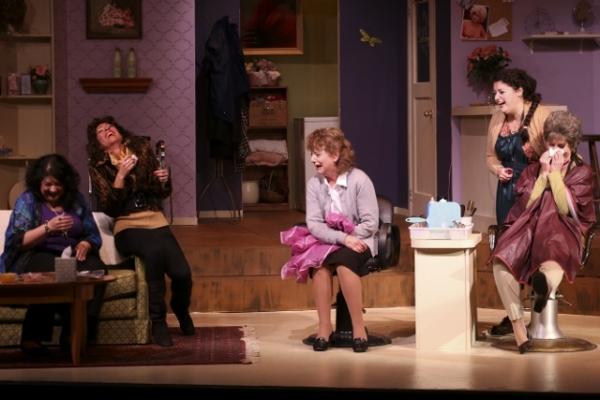 Dana Galagan as Clairee, Stephanie Leeper as Truvy, Kathi Aleman as M''Lynn, Jessica Robins as Annelle, Carol Richmond as Ouiser
