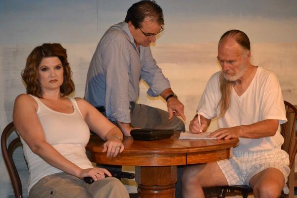 Gerardo (Kevin Daugherty) attempts to broker a compromise between Paulina (Malinda L. Photo