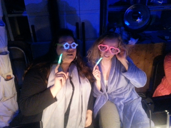 Special lenses to help see their scores at night (Heidi Anderson and Jennifer Evans)