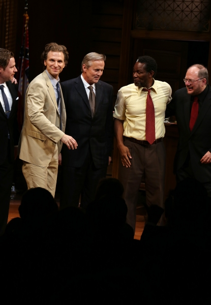 Director Ethan McSweeny, Sebastian Arcelus, Author John Grisham, John Douglas Thompson and Playwright Rupert Holmes