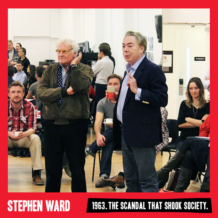 Andrew Lloyd Webber Attends First STEPHEN WARD Rehearsal