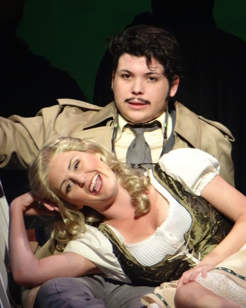 Brian  F. Finnerty as Dr. Frederick Frankenstein and Andrea Wright as Inga Photo