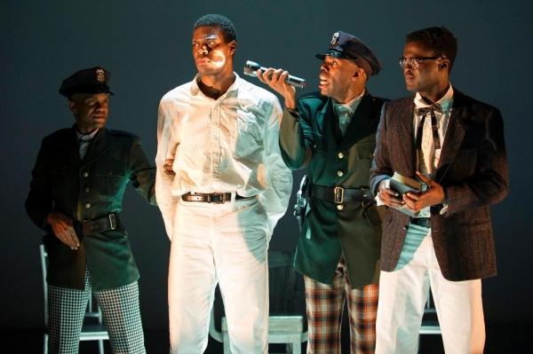 Forrest McClendon (Deputy Tambo), Kyle Scatliffe (Haywood Patterson), Colman Domingo (Sheriff Bones) and Adebayo Bolaji (Preacher)