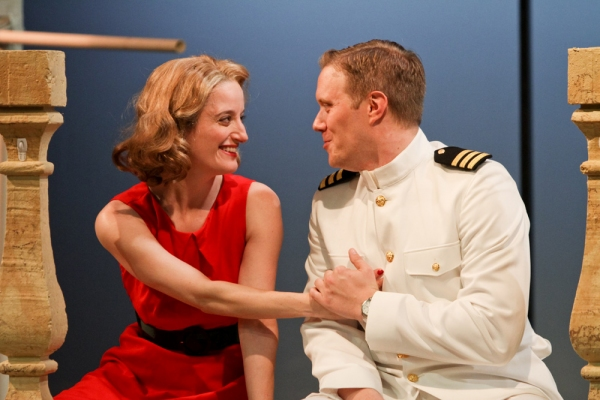 Jennifer Lee Taylor as Beatrice and Matt Shimkus as Benedick