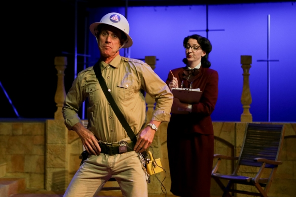 David Quicksall as Dogberry and Heather Persinger as Verges Photo