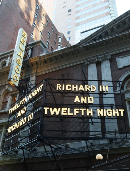 Up on the Marquee: TWELFTH NIGHT and  RICHARD III- More Photos!
