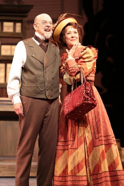 """David Lively (""""Horace Vandergelder"""") and Karen Ziemba (""""Dolly Levi"""")"""