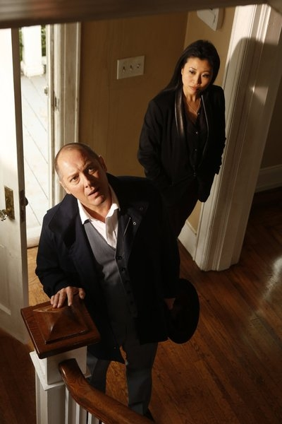 THE BLACKLIST -- ''Frederick Barnes'' Episode 106 -- Pictured: (l-r) James Spader as Raymond ''Red'' Reddington, Deborah S. Craig as Luli -- (Photo by: Craig Blankenhorn/NBC)
