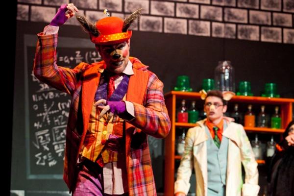 Jimmy Johansmeyer as BB. Wolf with Owen Murphy and Rachael Dugas
