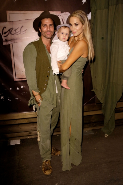 Designer Greg Lauren, Sky Lauren and actress Elizabeth Berkley