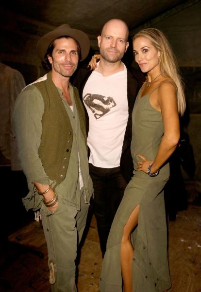 Designer Greg Lauren, host Marc Forster and actress Elizabeth Berkley Photo