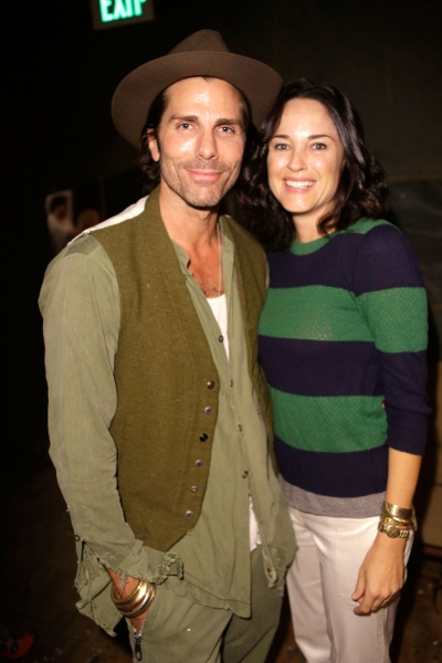 Designer Greg Lauren and Jo Gartin