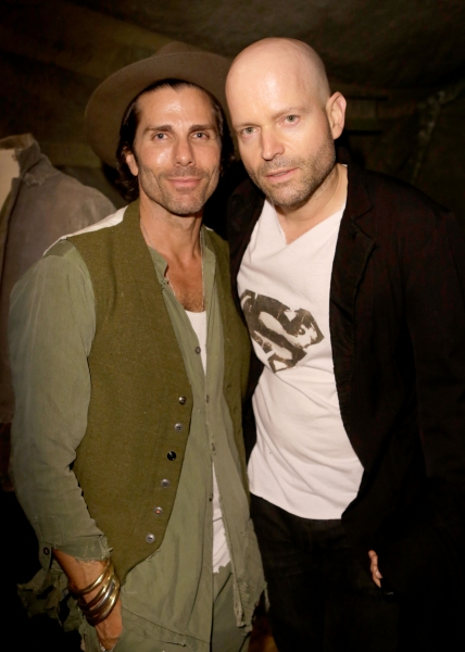 Designer Greg Lauren and host Marc Forster