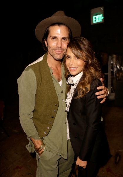 Designer Greg Lauren and singer Paula Abdul