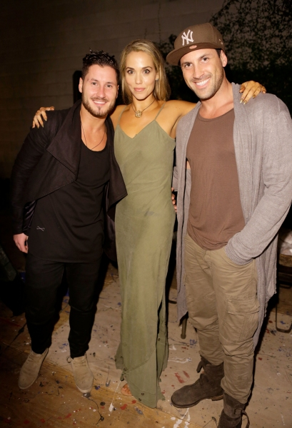 Valentin Chmerkovskiy, actress Elizabeth Berkley and Maksim Chmerkovskiy