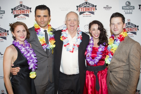 Rebecca Thornhill, Darius Campbell, Tim Rice, Siubhan Harrison and Robert Lonsdale