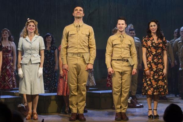 Rebecca Thornhill (Karen Holmes), Darius Campbell (First Sergeant Milt Warden), Robert Lonsdale (Private Robert E Lee Prewitt) and Siubhan Harrison (Lorene)''From