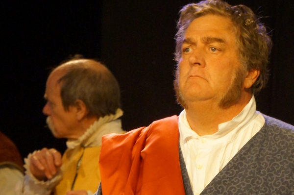 Roger Gans playing the role of Cassius