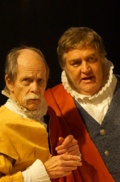 Roger Gans playing therole of Cassius and Bill Alden playing the role of Brutus