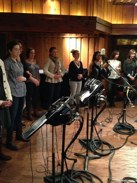 Photo Flash: In the Recording Studio with the Nuns of NBC's THE SOUND OF MUSIC!