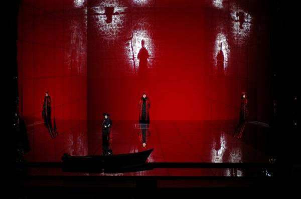 A scene from Richard Strauss''s ''Die Frau ohne Schatten.''