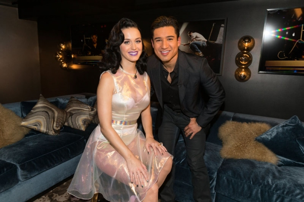 Katy Perry and Mario Lopez