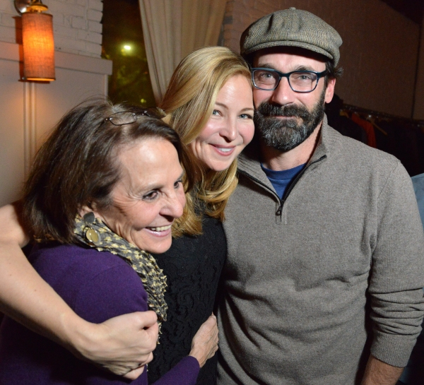 Connie Perelson with her daughter, THE POWER OF DUFF actor Jennifer Westfeldt and Westfeldt''s boyfriend Jon Hamm