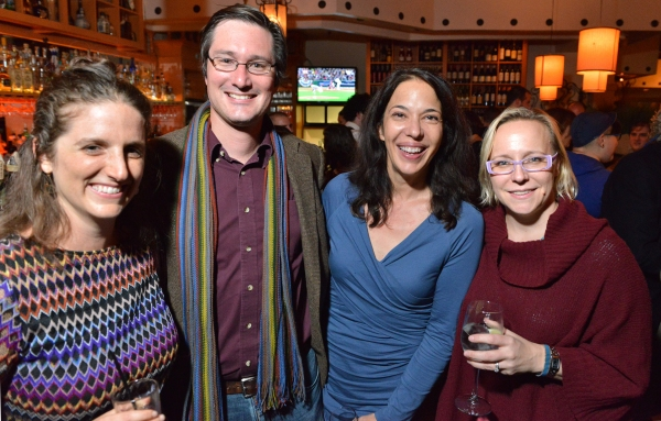 Huntington Playwrighting Fellow Lila Rose Kaplan with husband Jarrett Byrnes, Huntington Playwright-in-Residence Melinda Lopez, and Huntington Director of New Work Lisa Timmel