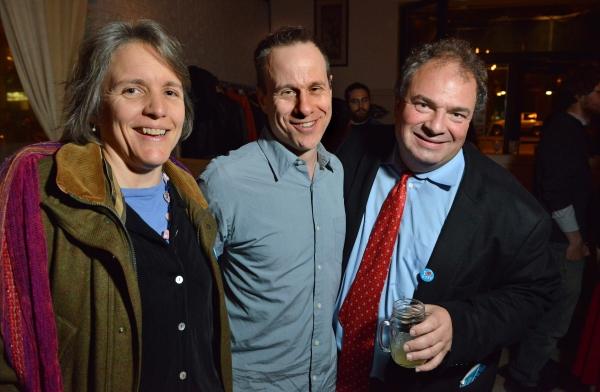 Sherman Altshuler, THE POWER OF DUFF playwright Stephen Belber, and Huntington Trustee David Altshuler
