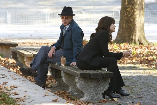 THE BLACKLIST -- ''Gina Zanetakos'' Episode 105 -- Pictured: (l-r) James Spader as Raymond ''Red'' Reddington, Megan Boone as Elizabeth Keen -- (Photo by: Will Hart/NBC)