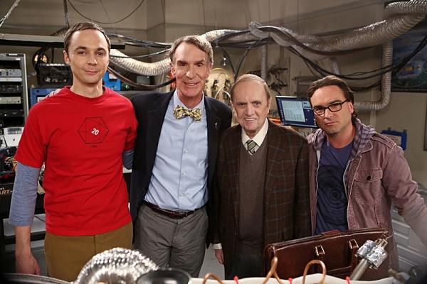 ''The Proton Displacement'' -- Sheldon feels slighted when Professor Proton (Bob Newhart) seeks advice from Leonard instead of him, and he seeks revenge by befriending a rival science TV host, Bill Nye, on THE BIG BANG THEORY, Thursday, Nov. 7 (8:00 Ã�'Æ'Ã