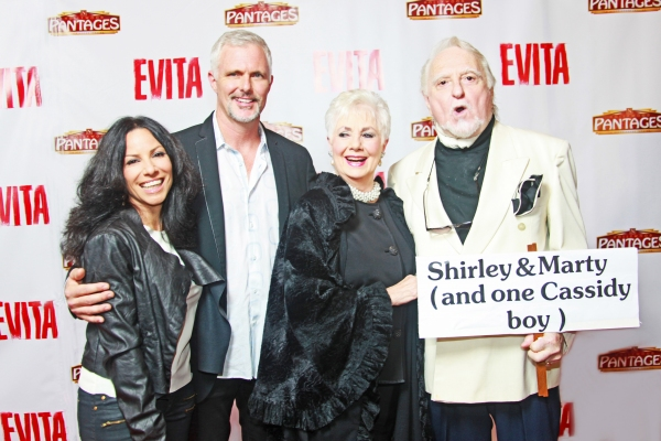 Casting Director Louanne Madorma greets family members  Patrick  Cassidy, Shirley Jones and Marty Ingels
