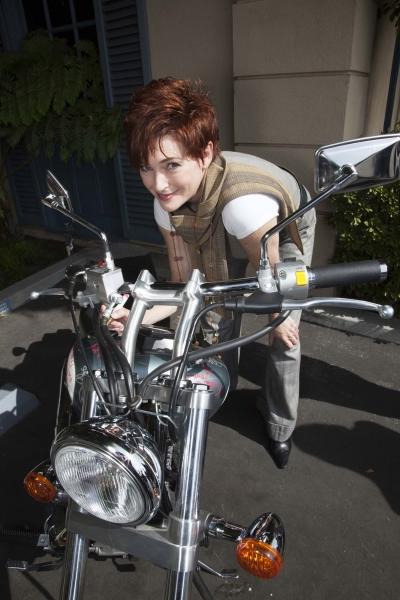 Carolyn Hennesy (True Blood and General Hospital) signs bike