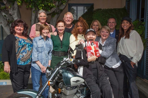 Tammy Locke, Paul Peterson, Geri Jewell, Katy Kurtzman, Johnny Whitaker, Sandra Lord, Rip Taylor (holding Magaret Cho''s picture), Erin Murphy, Alison Argnrim, Grier Weeks and Christine Devine