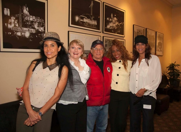 Jamaica Farwell, Alison Arngrim, Joel Zwick, Sandra Lord and Christine Devine in side Raleigh Studio''s Charlie Chaplin Theatre lobby