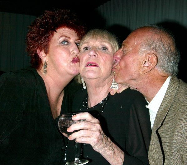 Marcia Wallace and Brett Somers with her Ex-Husband Jack Klugman.An Evening with Brett Somers at Danny''s Cabaret .on West 46th Street in  New York City..July 28, 2003.