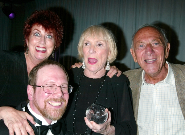 Marcia Wallace, Mark Cherry, Brett Somers and Jack Klugman attending a performance of.An Evening with Brett Somers at Danny''s Cabaret .on West 46th Street in  New York City..July 28, 2003.