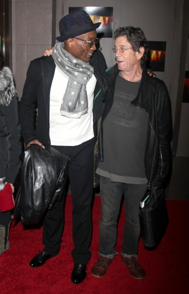 Bill T. Jones, Lou Reed arriving for the Opening Night Performance of FELA ! on Broadway at the Eugene O''Neill Theatre in New York City. November 23, 2009