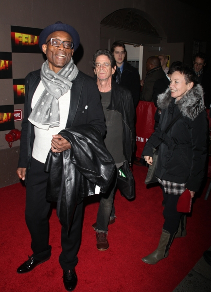 Bill T. Jones, Lou Reed & Laurie Anderson arriving for the Opening Night Performance of FELA ! on Broadway at the Eugene O''Neill Theatre in New York City. November 23, 2009