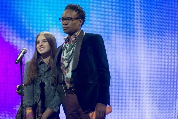 LAW & ORDER: SPECIAL VICTIMS UNIT -- ''Dissonant Voices'' Episode 1507 -- Pictured: Carly Rose Sonenclar as Grace, Billy Porter as Jackie Walker -- (Photo by: Michael Parmelee/NBC)