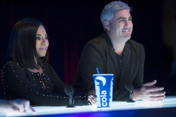 LAW & ORDER: SPECIAL VICTIMS UNIT -- ''Dissonant Voices'' Episode 1507 -- Pictured: (l-r) Ashanti, Taylor Hicks as themselves-- (Photo by: Michael Parmelee/NBC)