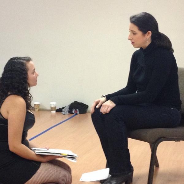 Samantha Mercado-Tudda as The Lap Dancer and Kimberly Faye Greenberg as The French Teacher