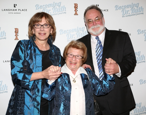 Director Julianne Boyd, Dr. Ruth Westheimer and Playwright Mark St. Germain  Photo