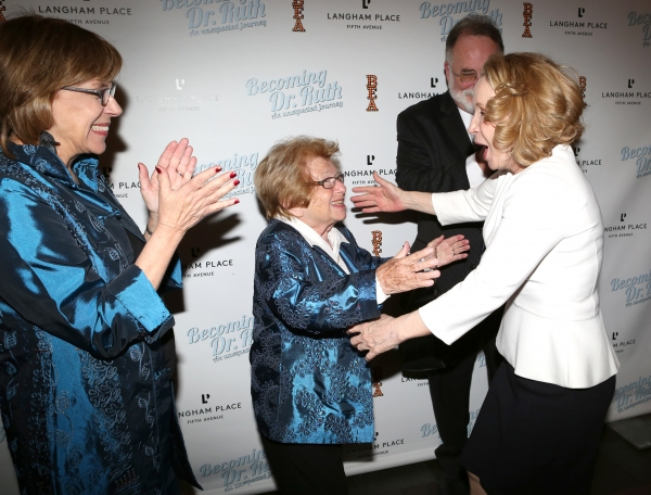 Director Julianne Boyd, Dr. Ruth Westheimer, Debra Jo Rupp and Playwright Mark St. Germain