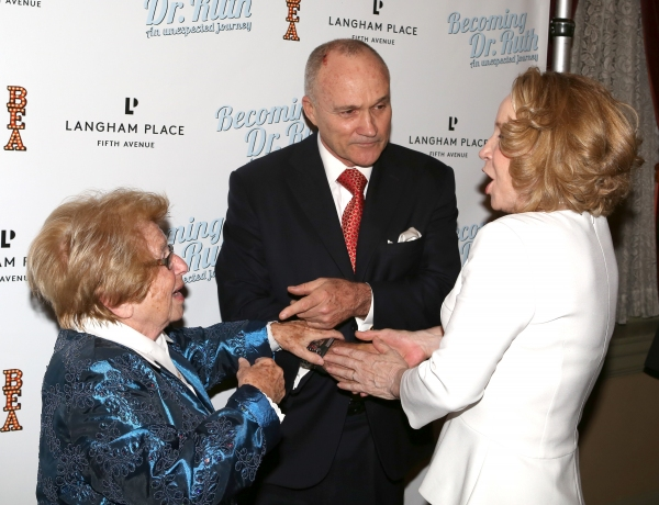 Debra Jo Rupp, Dr. Ruth Westheimer with Police Commissioner Ray Kelly