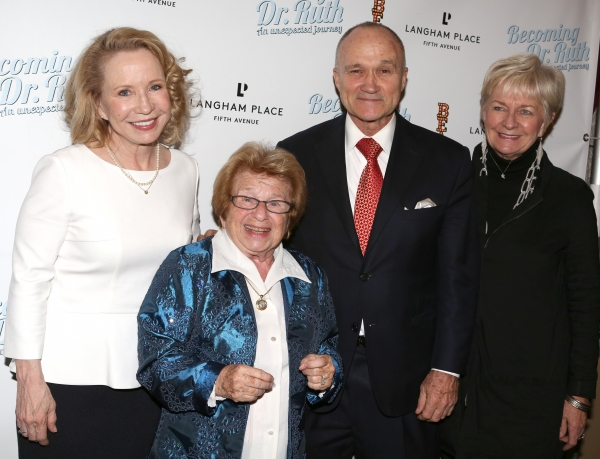 Debra Jo Rupp, Dr. Ruth Westheimer with Police Commissioner Ray Kelly and wife Veroni Photo