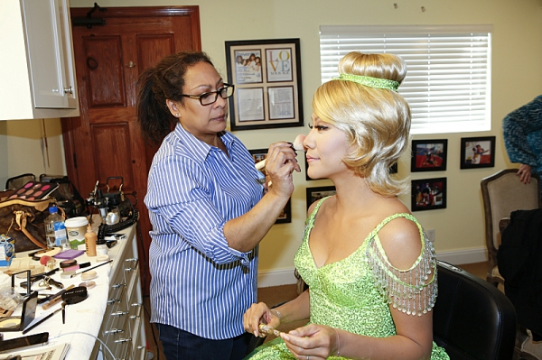 The ladies of The Talk dress in costume to the theme of Peter Pan on the Halloween episode on Thursday, Oct. 31, 2013 for the CBS Television Network. Julie Chen as Tinker Bell, shown. Photo: Cliff Lipson/CBS �'?©2013 CBS Broadcasting Inc. All Ri
