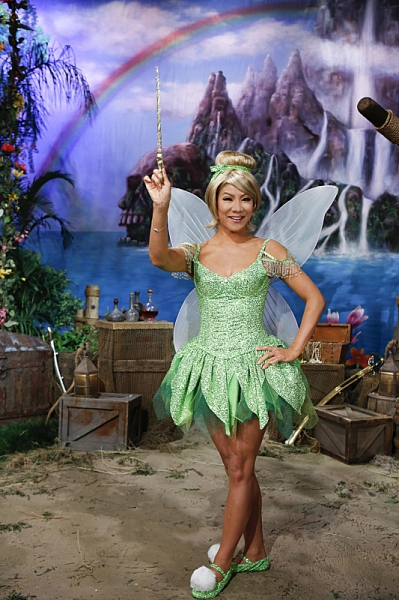 The ladies of The Talk dress in costume to the theme of Peter Pan on the Halloween episode on Thursday, Oct. 31, 2013 for the CBS Television Network. Julie Chen as Tinker Bell, shown. Photo: Cliff Lipson/CBS ÃÆ'?©2013 CBS Broadcasting Inc. All Ri