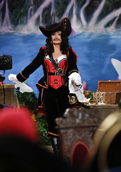 The ladies of The Talk dress in costume to the theme of Peter Pan on the Halloween episode on Thursday, Oct. 31, 2013 for the CBS Television Network. Sharon Osbourne as Captain Hook, shown. Photo: Cliff Lipson/CBS �'?©2013 CBS Broadcasting Inc.
